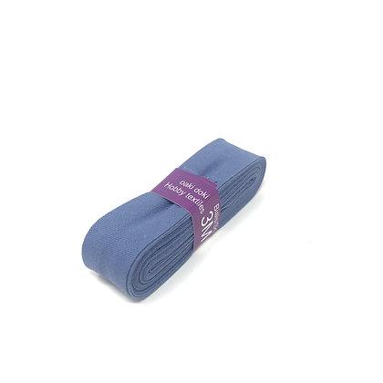 Schrägband 20 mm Taubenblau