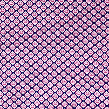 Baumwollstoff Köper Pink Navy