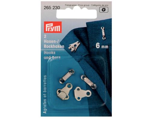 Hosen-/ Rockhaken 6 mm silber