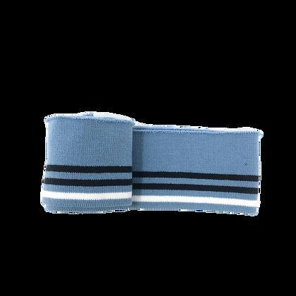 Bündchen Gestreift Blau Schwarz Weiß