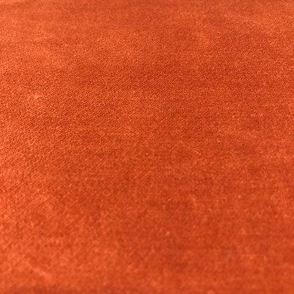 Baumwollsamt Uni Kupfer Orange