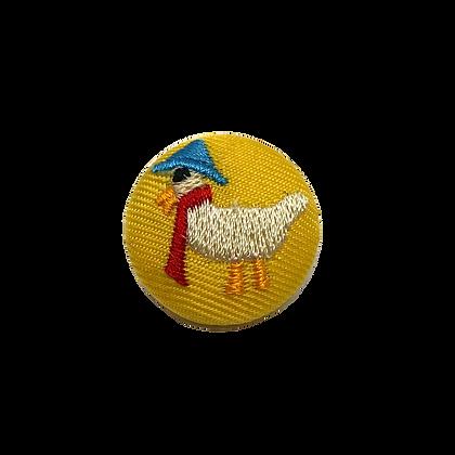 Knopf Rund Ente Gelb