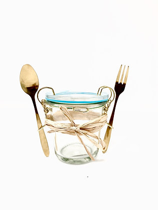 HOFF Interieur Picknick Glas mit Besteck