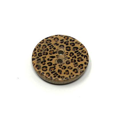 Knopf Leopard klein