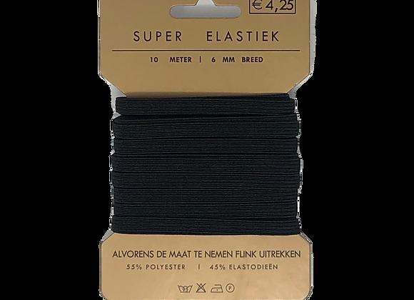 Gummilitze 6 mm schwarz
