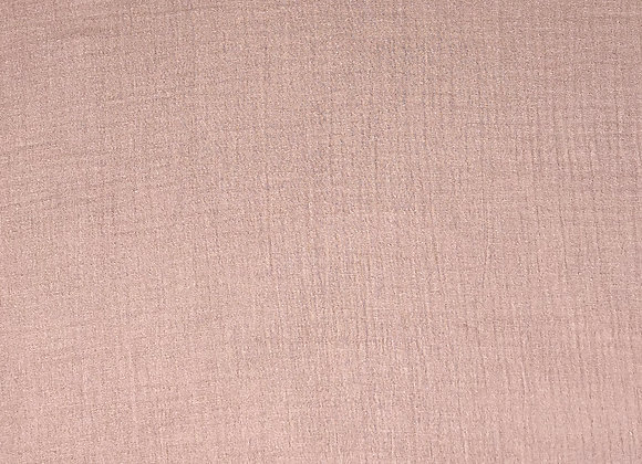 Baumwollstoff Musselin Dusty rosa