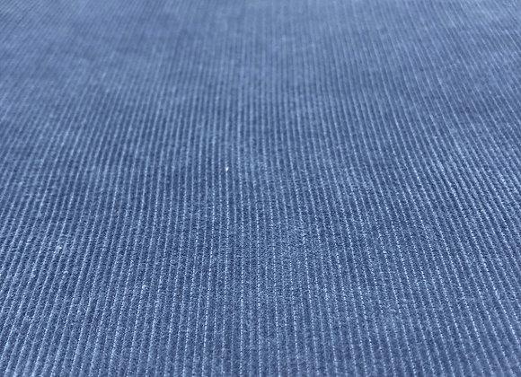 Cordstoff Feincord Indigo Blau