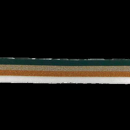 Ripp Band Stripes 30 mm Grün Kupfer
