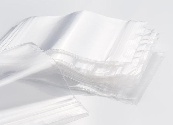 Sachet zip transparent