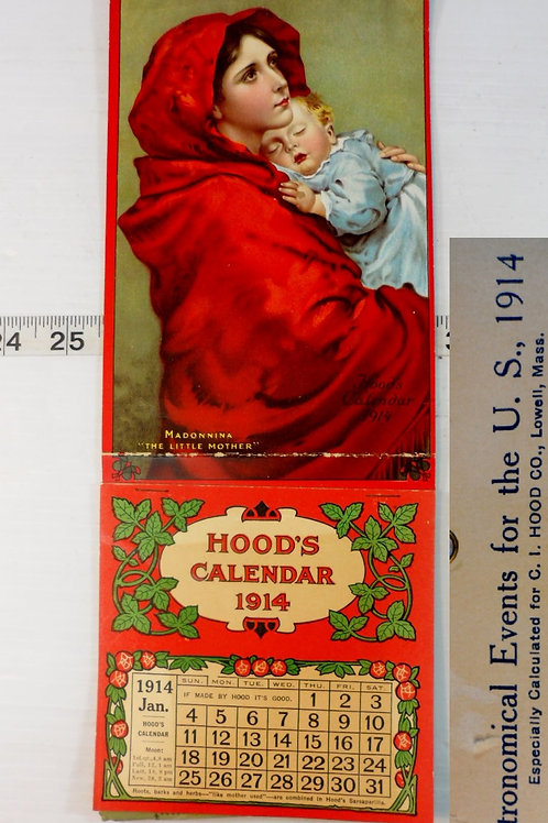 "1914 Hood's Calendar ""Sarsaparilla"""