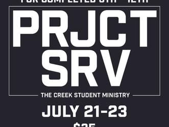 PRJCT SRV - Student Ministry