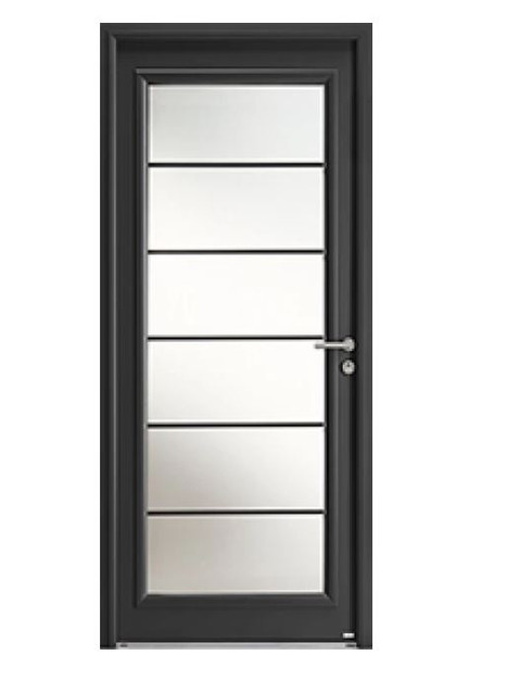 Porte d'entrée mixte Bel'm, modèle Léry (extérieur).