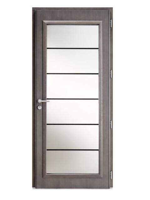 Porte d'entrée mixte Bel'm, modèle Léry (intérieur).