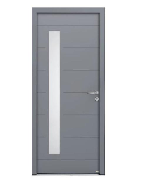 Porte d'entrée mixte Bel'm, modèle Albe extérieur.
