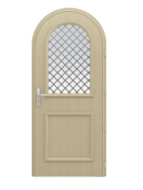 Porte d'entrée mixte Bel'm, modèle Artémis intérieur.