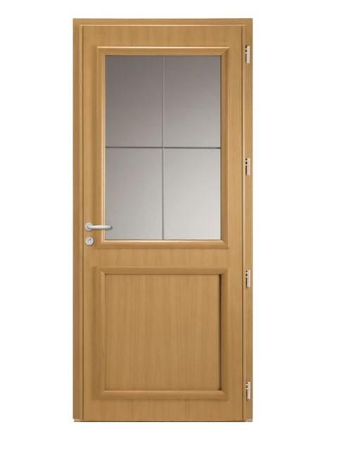 Porte d'entrée mixte Bel'm, modèle Langeais (intérieur).