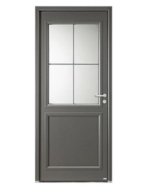 Porte d'entrée mixte Bel'm, modèle Langeais (extérieur).