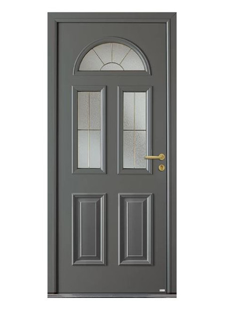 Porte d'entrée mixte Bel'm, modèle Gaspésie (extérieur).
