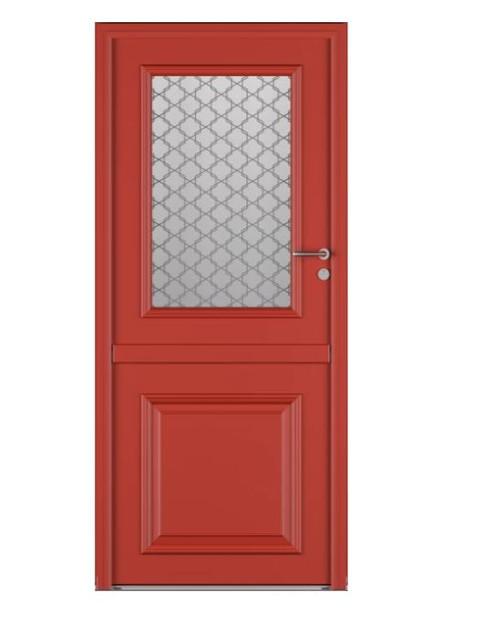 Porte d'entrée mixte Bel'm, modèle Bocage 2 (extérieur).