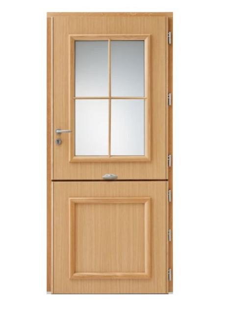 Porte d'entrée mixte Bel'm, modèle Bocage 1 (intérieur).