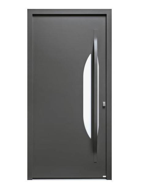 Porte d'entrée mixte Bel'm, modèle Azur (extérieur).