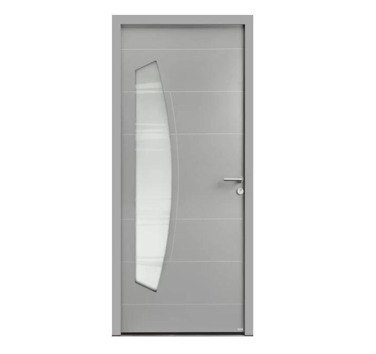 Porte d'entrée Aluminium Virgule