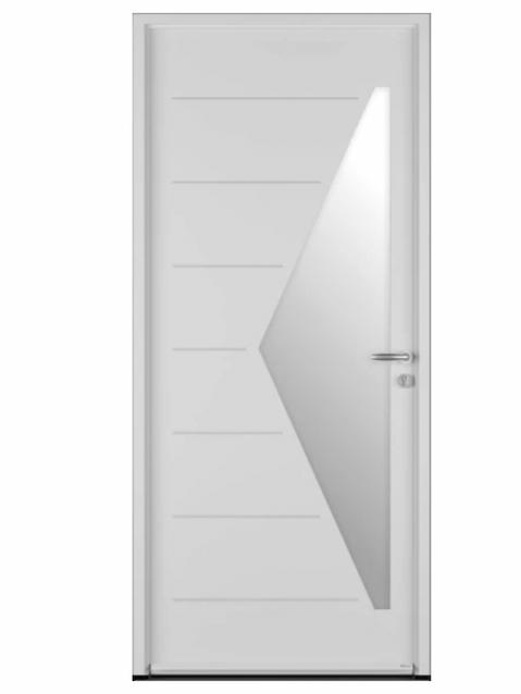 Porte d'entrée acier Bel'm, modèle Delta-evo.