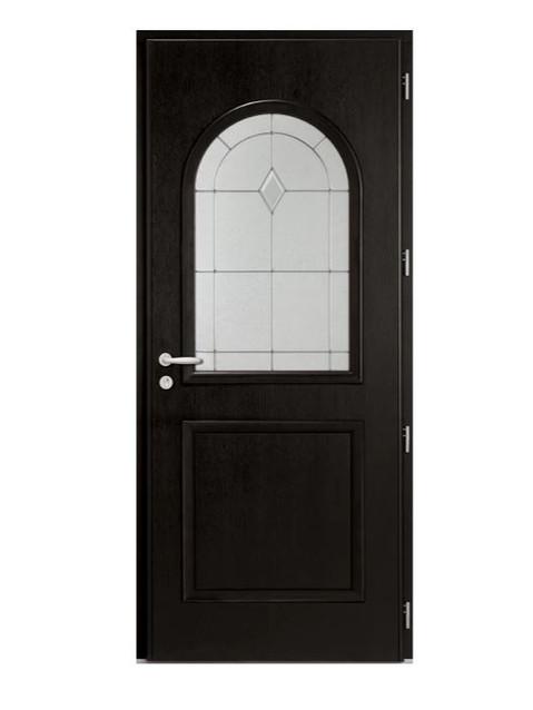 Porte d'entrée mixte Bel'm, modèle Montréal (intérieur).