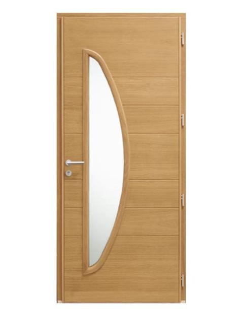 Porte d'entrée mixte Bel'm, modèle Gaïa (intérieur).