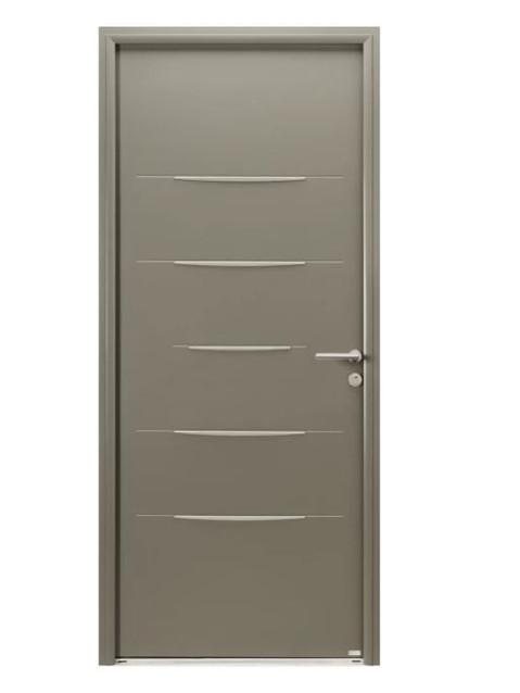 Porte d'entrée mixte Bel'm, modèle Alinéa extérieur.