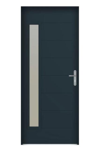 Porte d'entrée acier Bel'm, modèle Abscisse EVO.