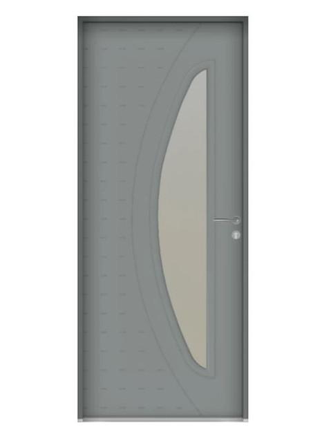 Porte d'entrée mixte Bel'm, modèle Gaïa (extérieur).