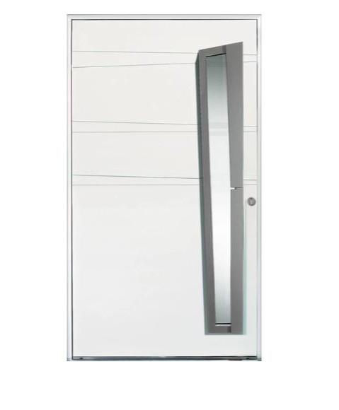 Porte d'entrée mixte Bel'm, modèle Chrystal (extérieur).