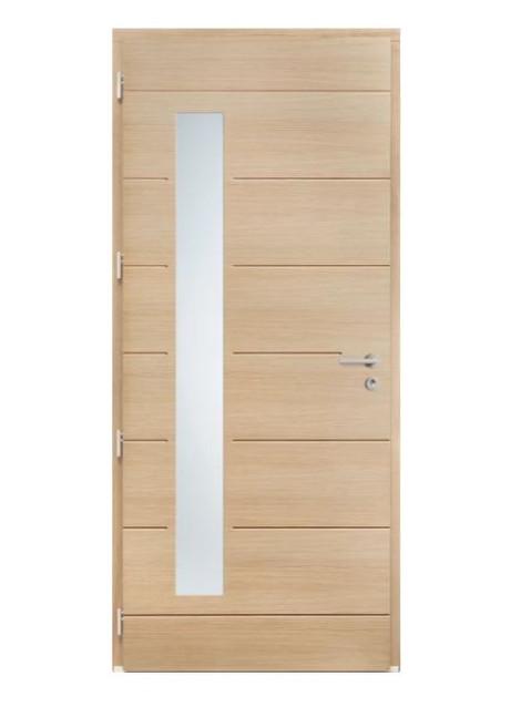 Porte d'entrée mixte Bel'm, modèle Albe intérieur.