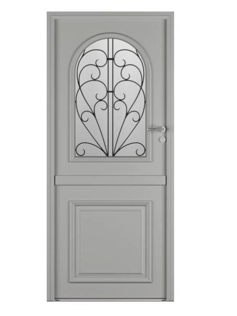 Porte d'entrée mixte Bel'm, modèle Bocage 3 (extérieur).