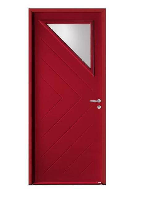 Porte d'entrée acier Bel'm, modèle Trapèze