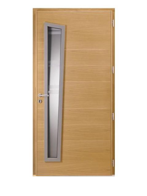 Porte d'entrée mixte Bel'm, modèle Opale (intérieur).