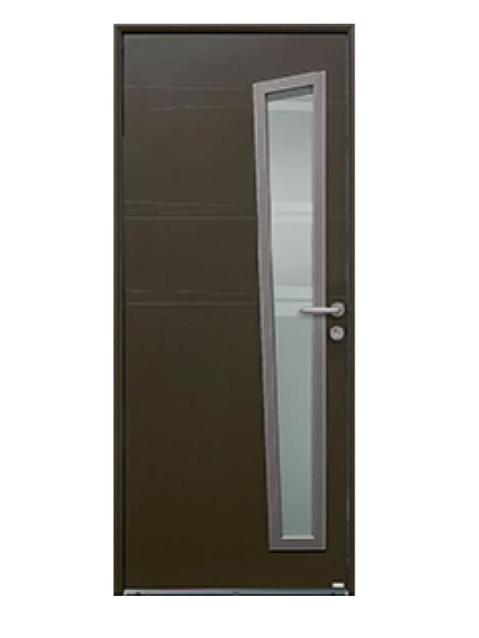 Porte d'entrée mixte Bel'm, modèle Opale (extérieur).