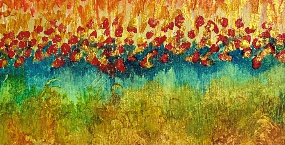 a small painting representing elements of nature, Philadelphia Artist, Vidya Shyamsundar
