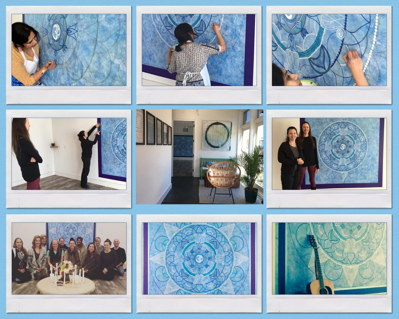 Mandala Wall Mural, #WIP (2019)