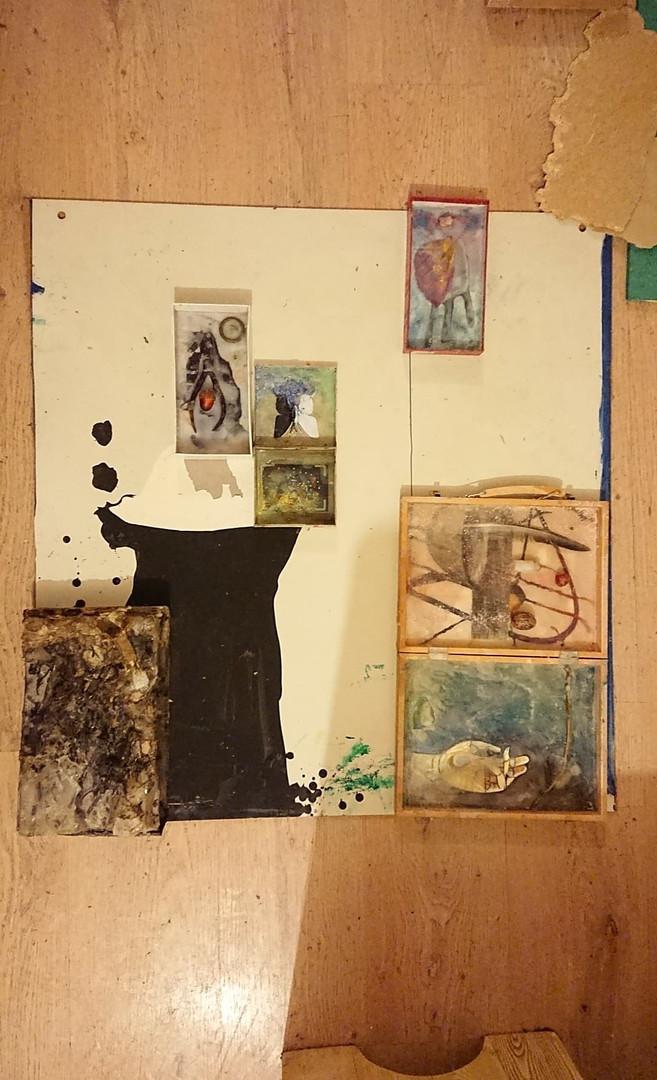 Process - Symphony of the Soul  Mixed media