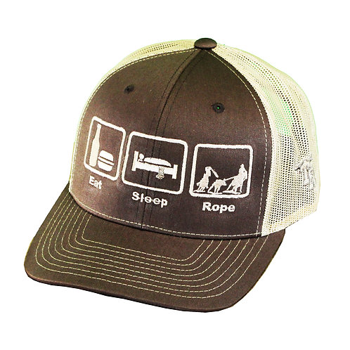 Eat.Sleep.Rope 2-Tone Trucker Cap