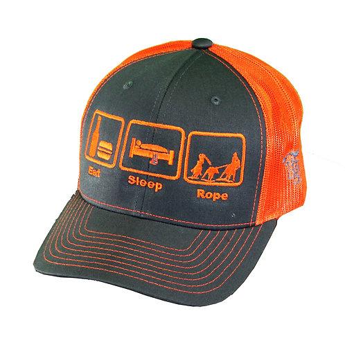 Eat.Sleep.Rope 2-Tone Trucker Cap