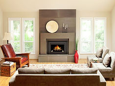 Fireplace: Tile and Natural Stone