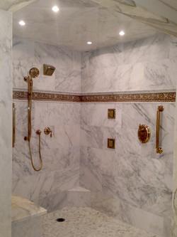 Marble Bathroom on Beacon Hill