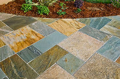 Patios, outside spaces, common areas - professional tile installation