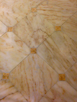 Marble Tile with Custom Inserts