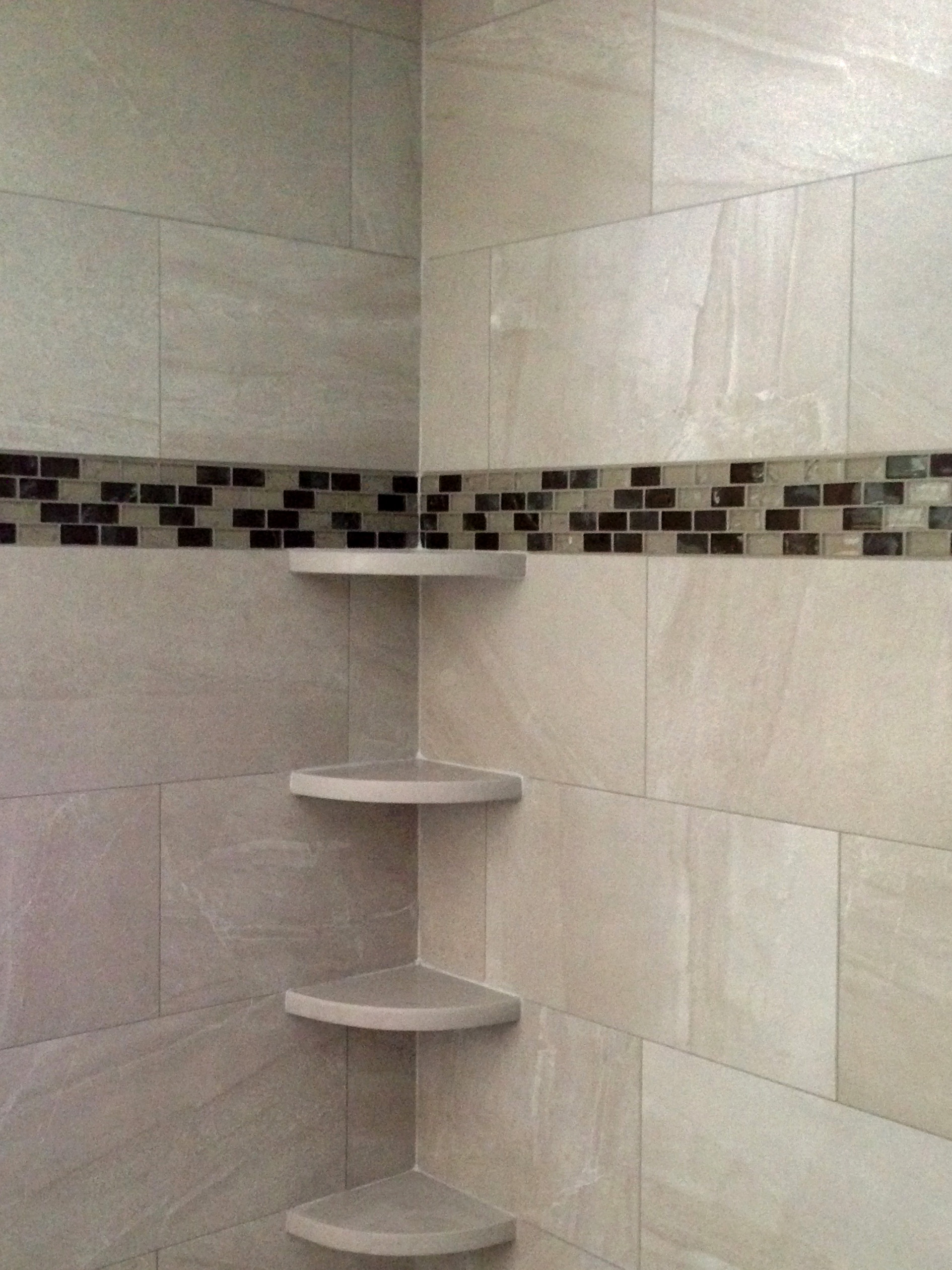Shower with Shelves