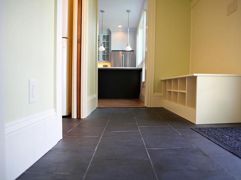 Mudroom Tile Floor in Melrose, MA