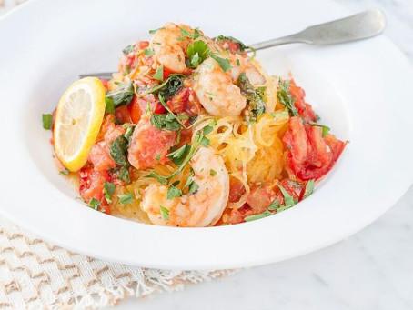 Spaghetti Squash with Shrimp and Veggies